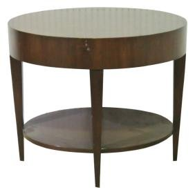 DECO STYLE OVAL 2-TIER COFFEE TABLE