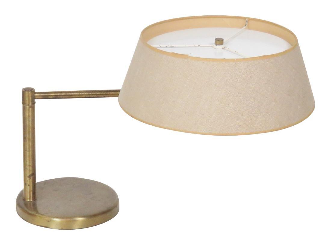 NESSEN BRASS SWIVEL TABLE LAMP