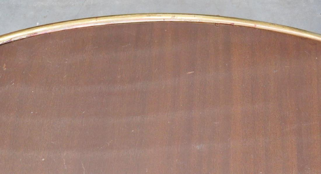 MODERN DESIGN BRASS & WALNUT COFFEE TABLE - 4