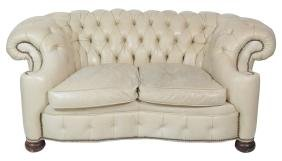 OLD HICKORY TANNERY TUFTED LEATHER CHESTERFIELD SOFA