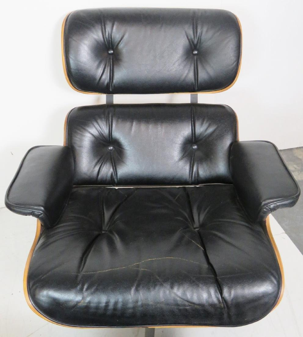 Pair CHARLTON COMPANY TUFTED UPHOLSTERED LOUNGE CHAIRS - 4