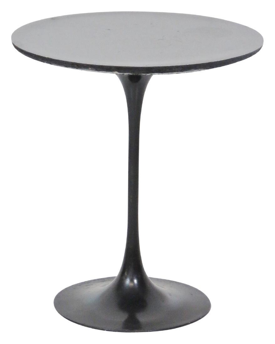 EERO SAARINEN STYLE EBONIZED TULIP TABLE