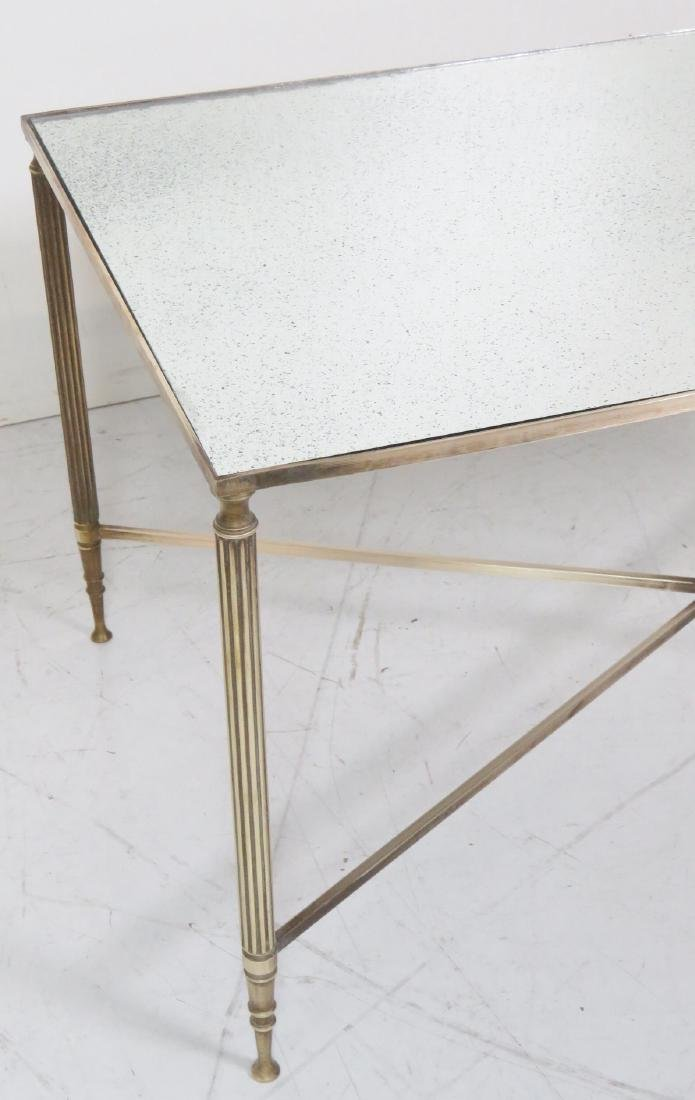 DIRECTOIRE STYLE MIRRORTOP BRASS COFFEE TABLE - 4