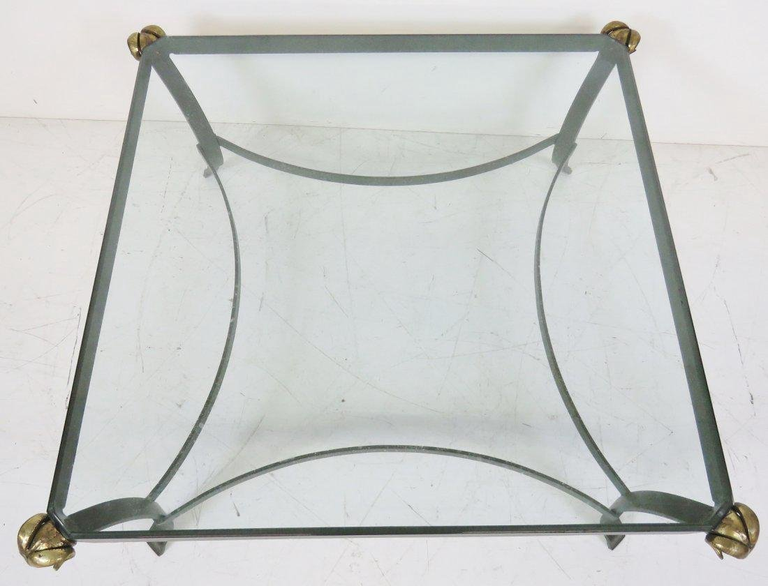 DIRECTOIRE STYLE PAINTED METAL COFFEE TABLE w/ RAMS - 3