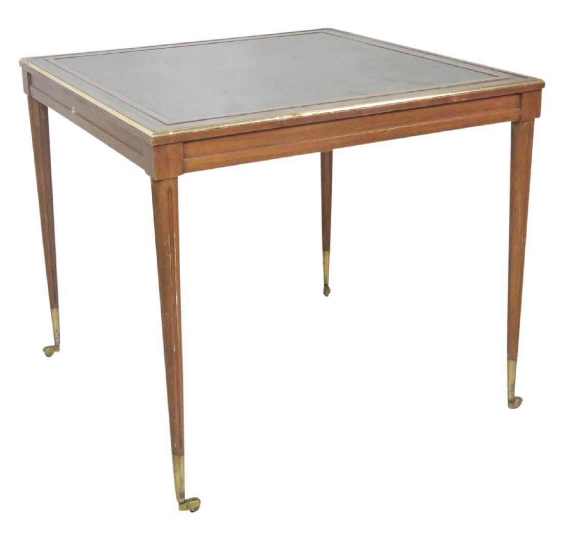 JANSEN STYLE LEATHERTOP GAME TABLE