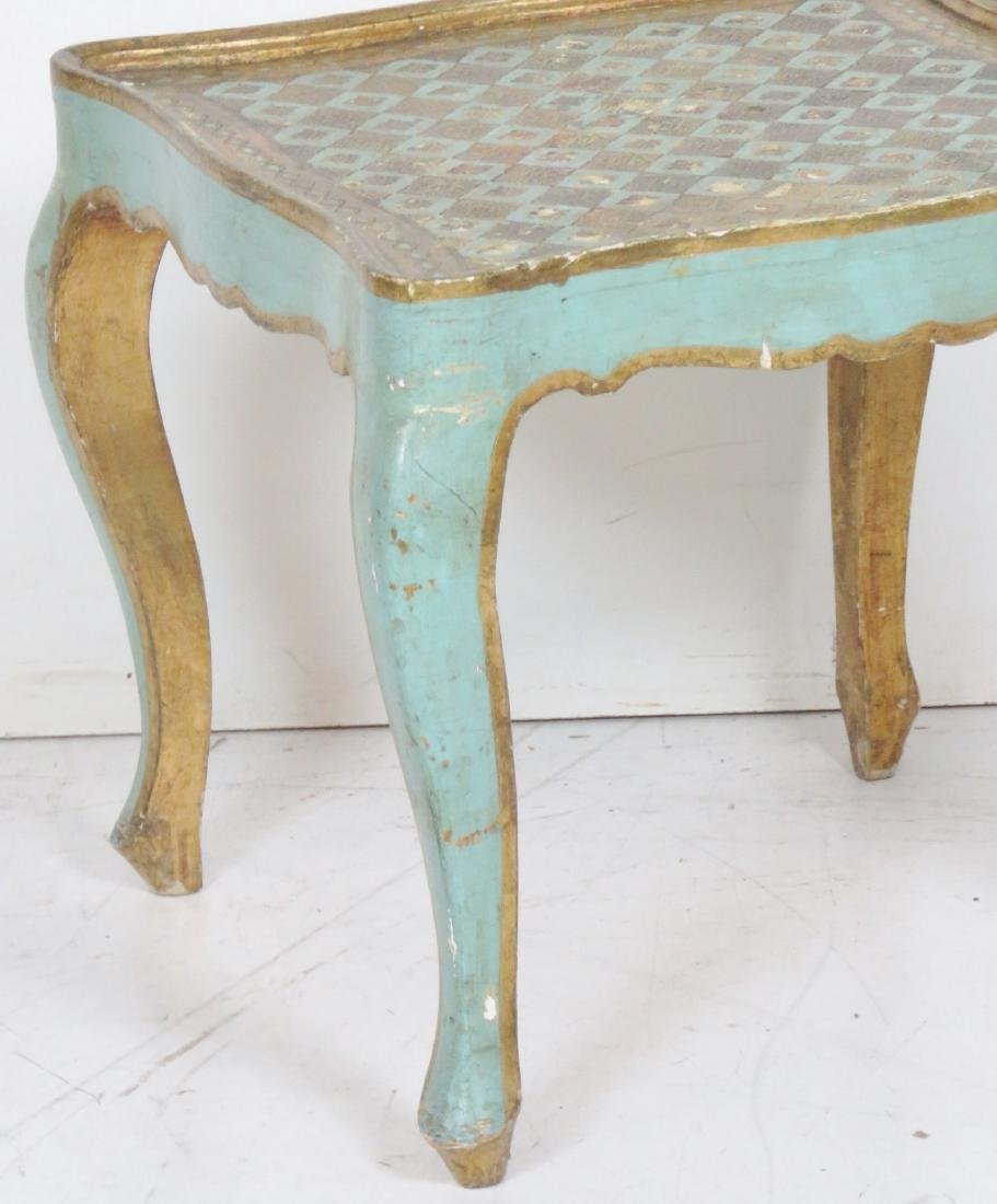 FLORENTINE STYLE PAINT DECORATED SIDE TABLE - 2