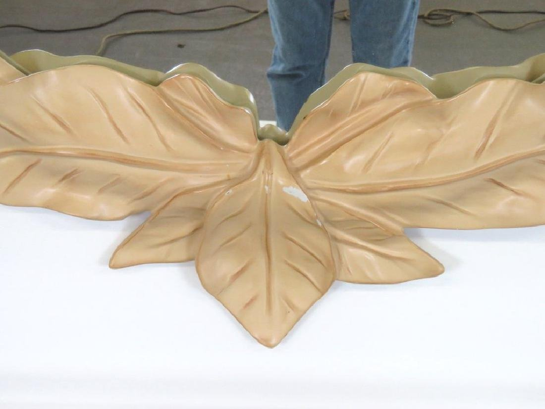 Pair CONTEMPORARY LEAF FORM CONSOLES & MIRRORS - 2