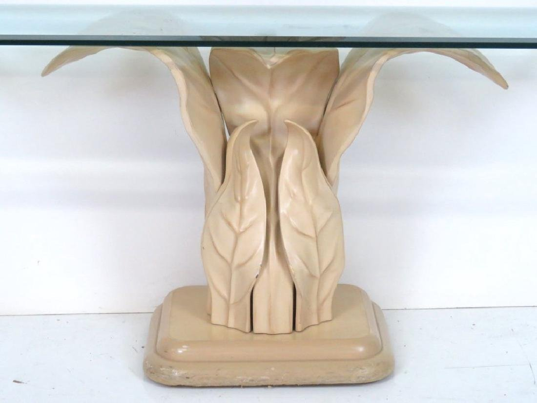 Pair CONTEMPORARY LEAF FORM CONSOLES & MIRRORS - 5
