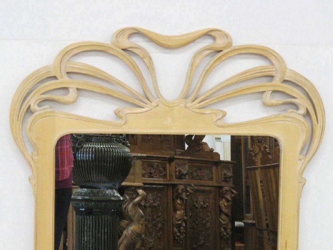 Pair ART NOUVEAU CARVED MIRRORS - 2