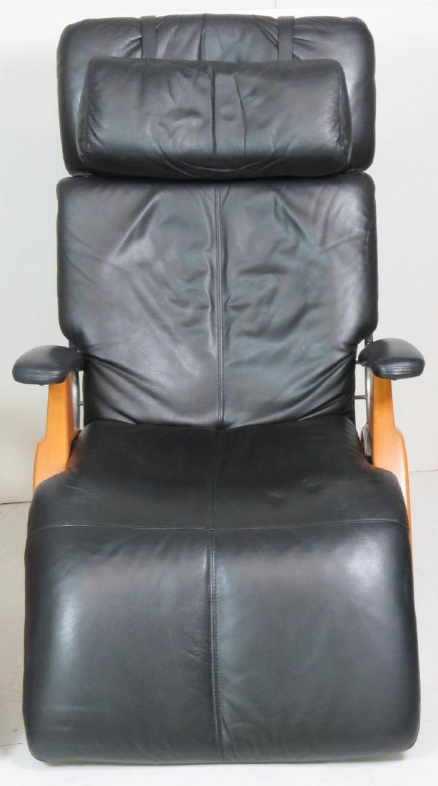 HUMAN TOUCH LEATHER ZERO GRAVITY LOUNGE CHAIRS - 2