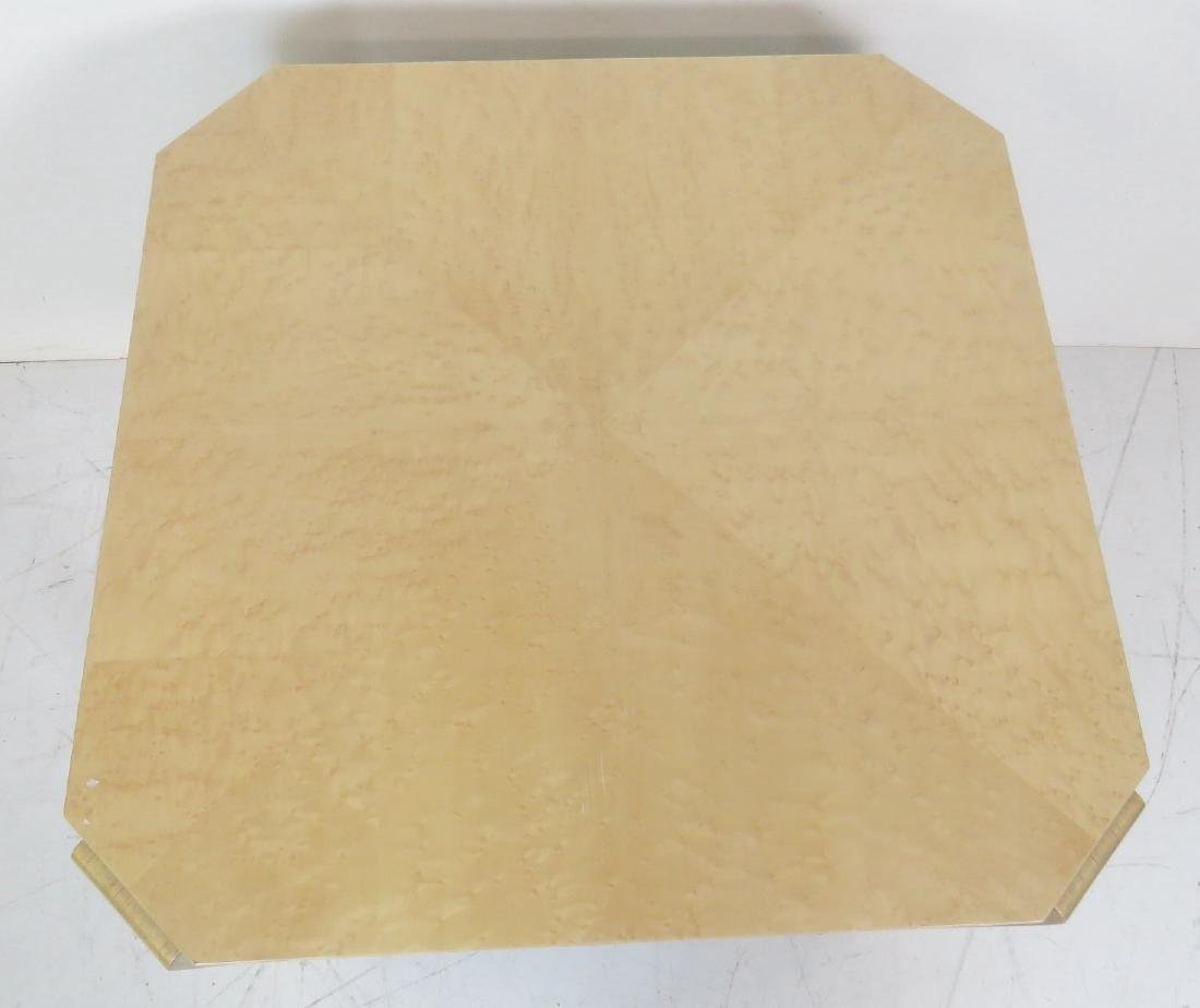 FAUX OSTRCH LACQUERED SIDE TABLE - 4