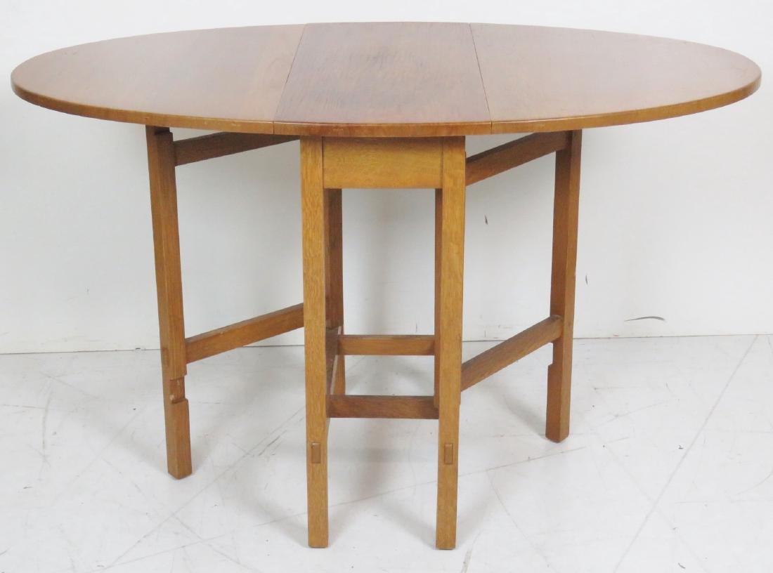 LIMBERT OAK DROPLEAF TABLE - 3
