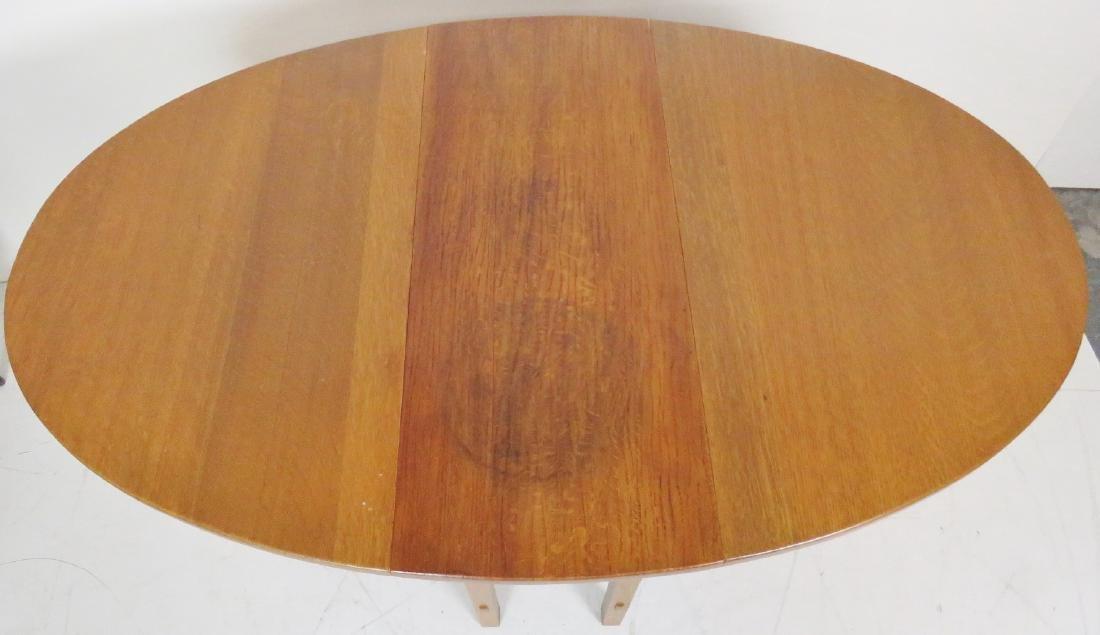LIMBERT OAK DROPLEAF TABLE - 4