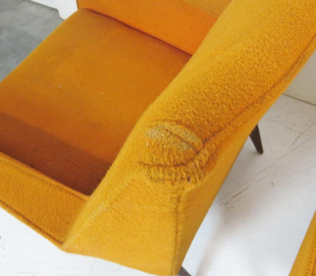 Pair FINN JUHL STYLE UPHOLSTERED LOUNGE CHAIRS - 4
