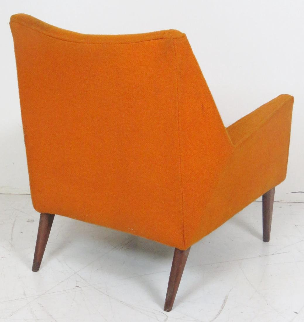 Pair FINN JUHL STYLE UPHOLSTERED LOUNGE CHAIRS - 5