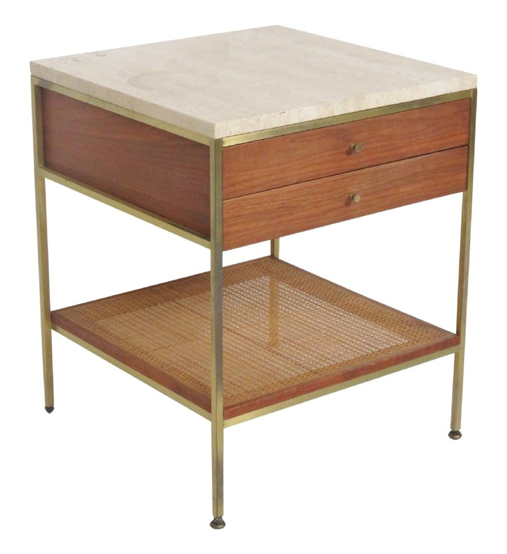 PAUL MCCOBB CANED MARBLETOP STAND