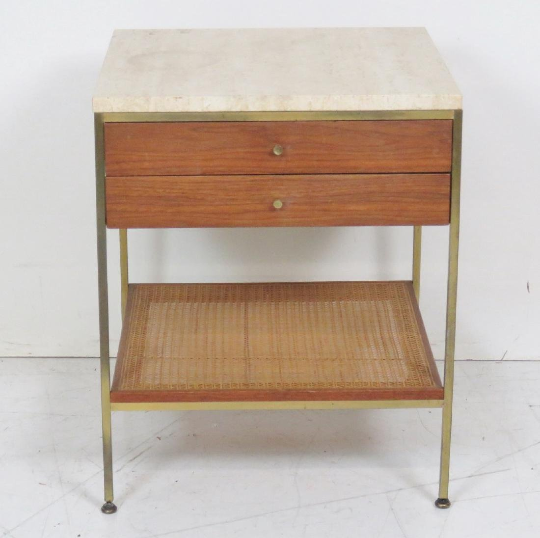 PAUL MCCOBB CANED MARBLETOP STAND - 2