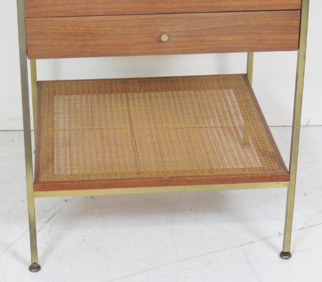 PAUL MCCOBB CANED MARBLETOP STAND - 3