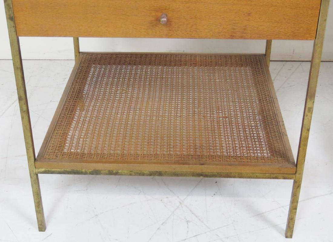 Pair PAUL MCCOBB CANED MARBLETOP SIDE TABLES - 5