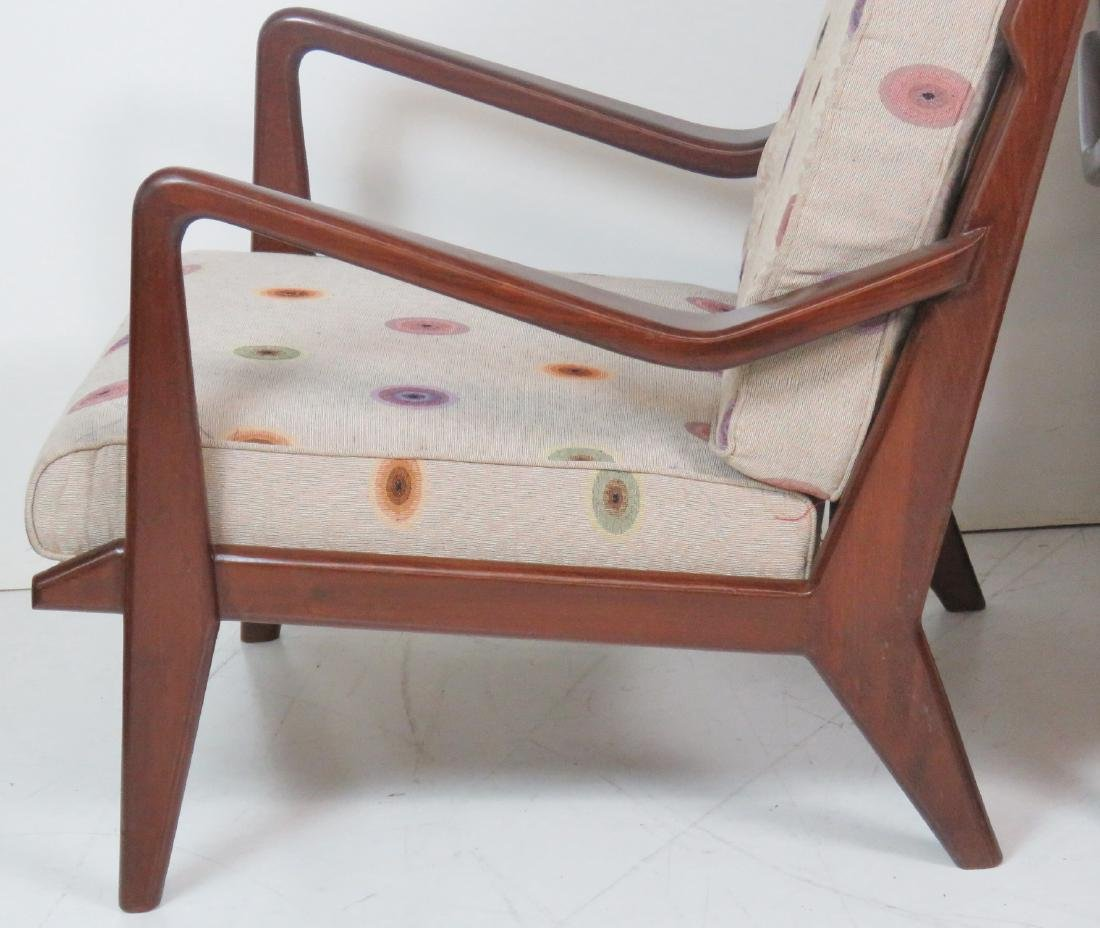 Pair MODERN DESIGN TEAK LOUNGE CHAIRS - 2