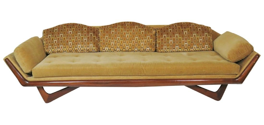 ADRIAN PEARSALL ROSEWOOD UPHOLSTERED SOFA