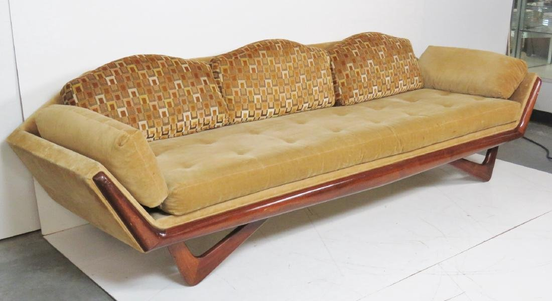 ADRIAN PEARSALL ROSEWOOD UPHOLSTERED SOFA - 2