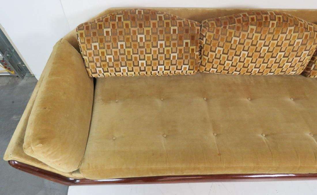 ADRIAN PEARSALL ROSEWOOD UPHOLSTERED SOFA - 4