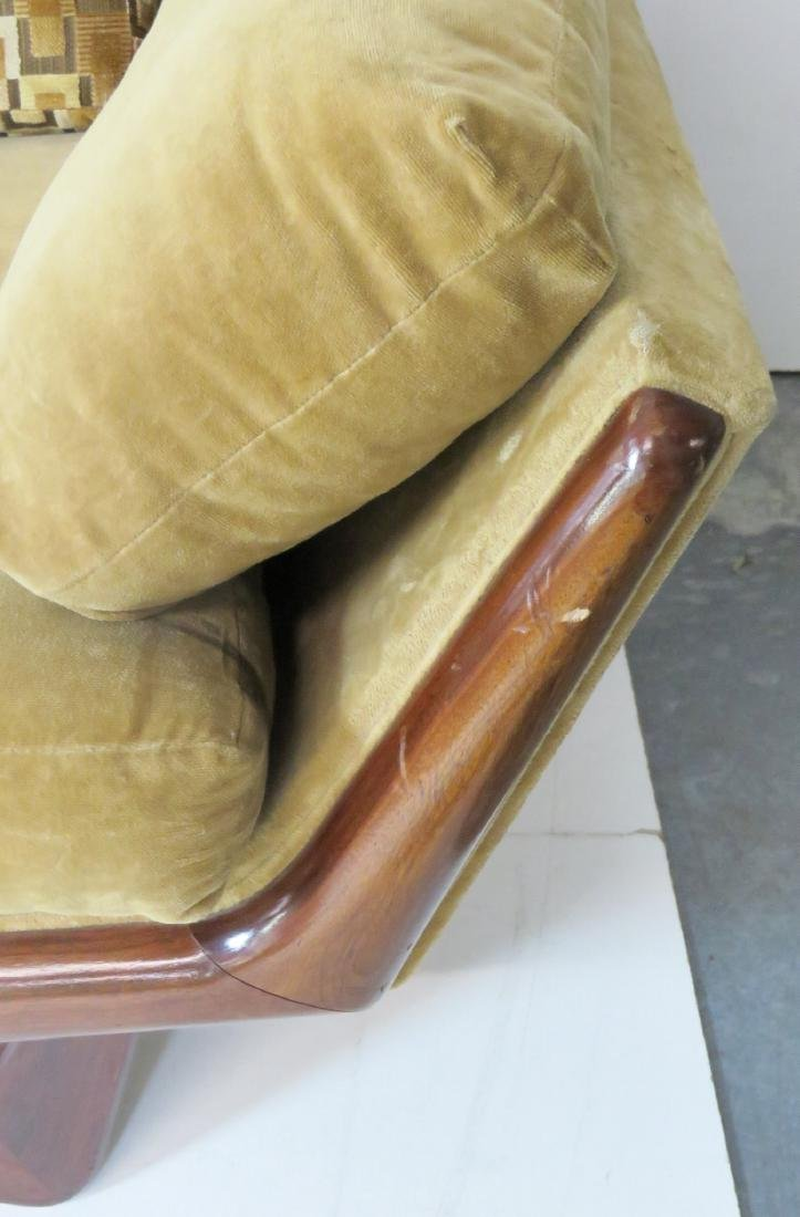 ADRIAN PEARSALL ROSEWOOD UPHOLSTERED SOFA - 7