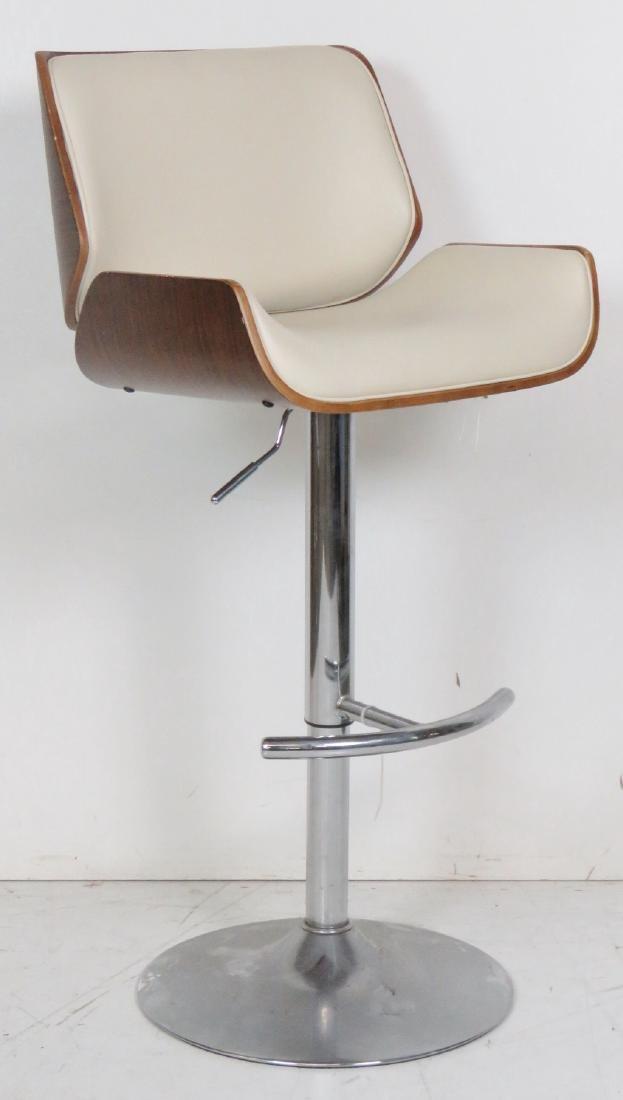 4 MODERN DESIGN CHROME SWIVEL BAR STOOLS - 2