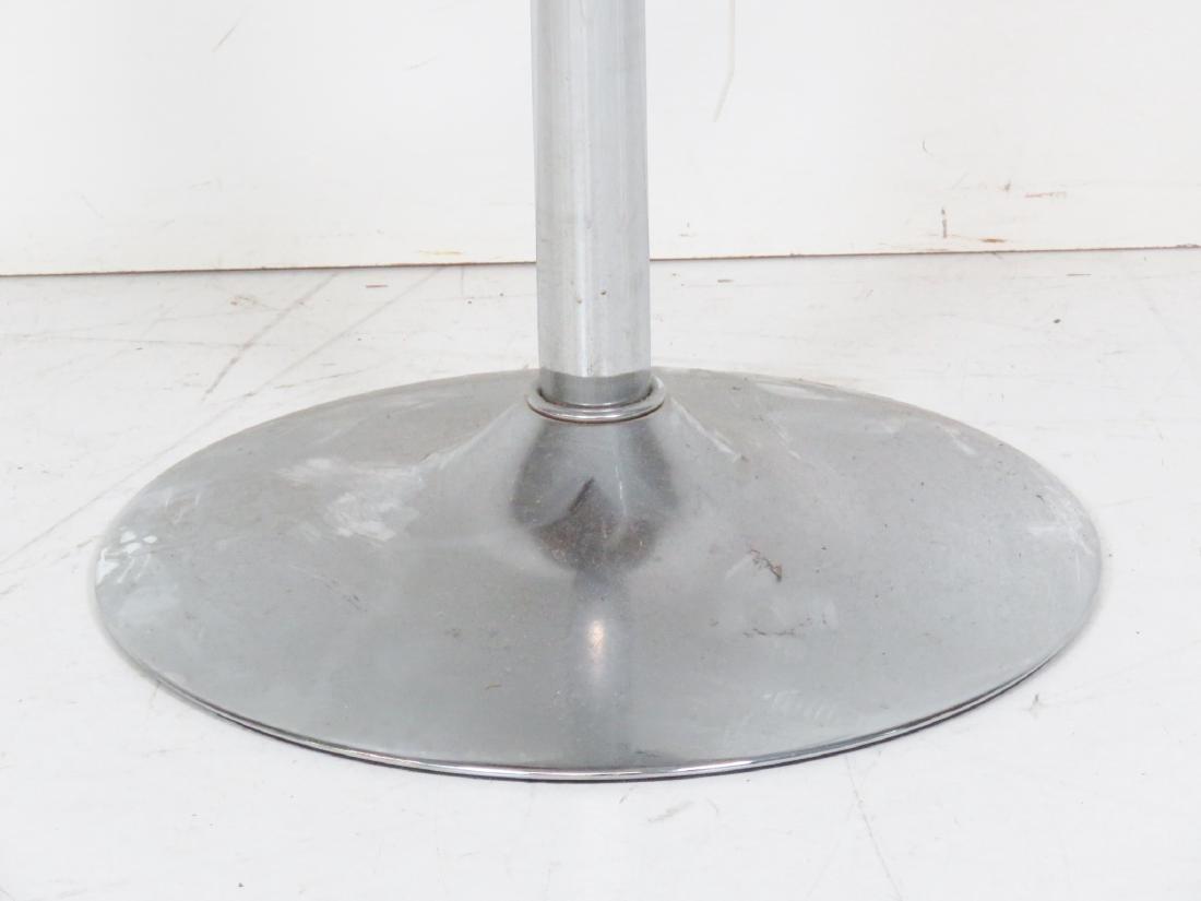 4 MODERN DESIGN CHROME SWIVEL BAR STOOLS - 3