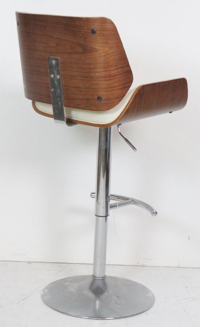4 MODERN DESIGN CHROME SWIVEL BAR STOOLS - 5