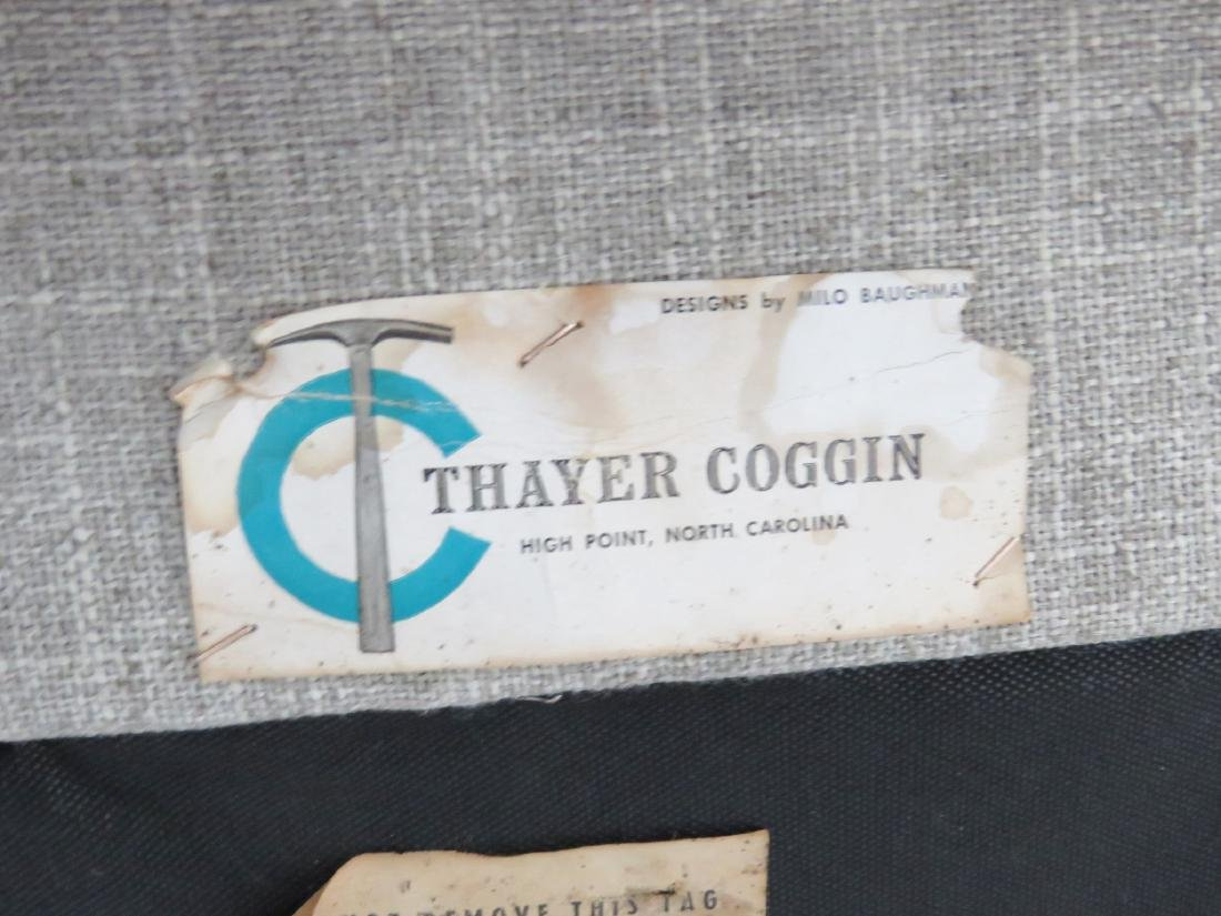 Pair MILO BAUGHMAN THAYER COGGIN TUFTED LOUNGE CHAIRS - 5