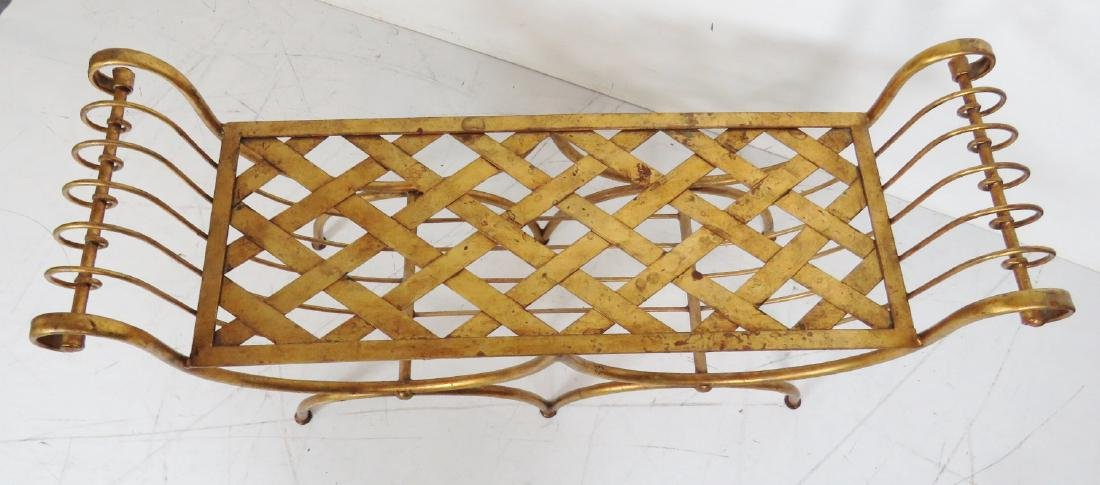 REGENCY STYLE GILT PAINTED CERULE BENCH - 2