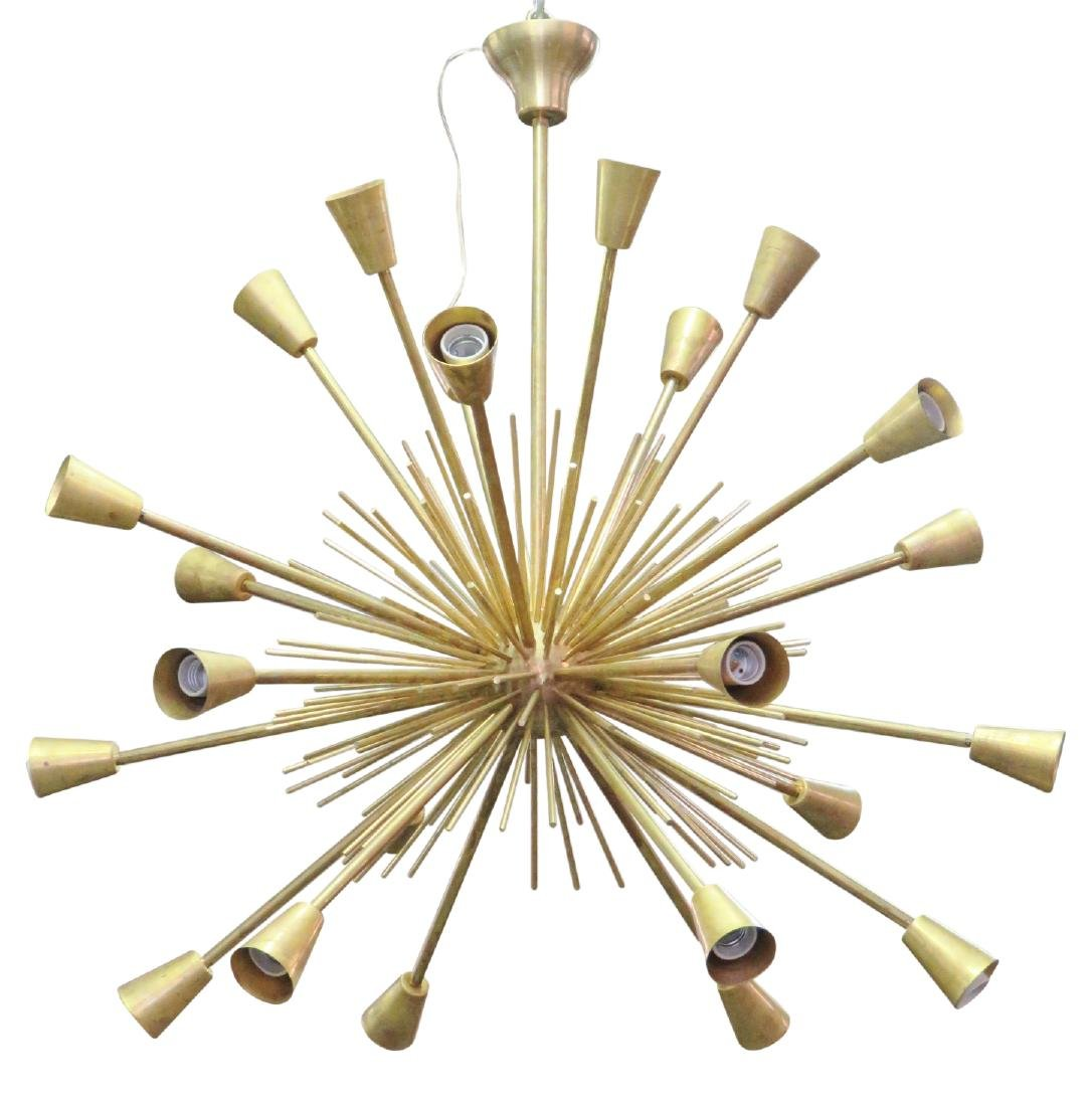 MODERN DESIGN BRASS SPUTNIK CHANDELIER