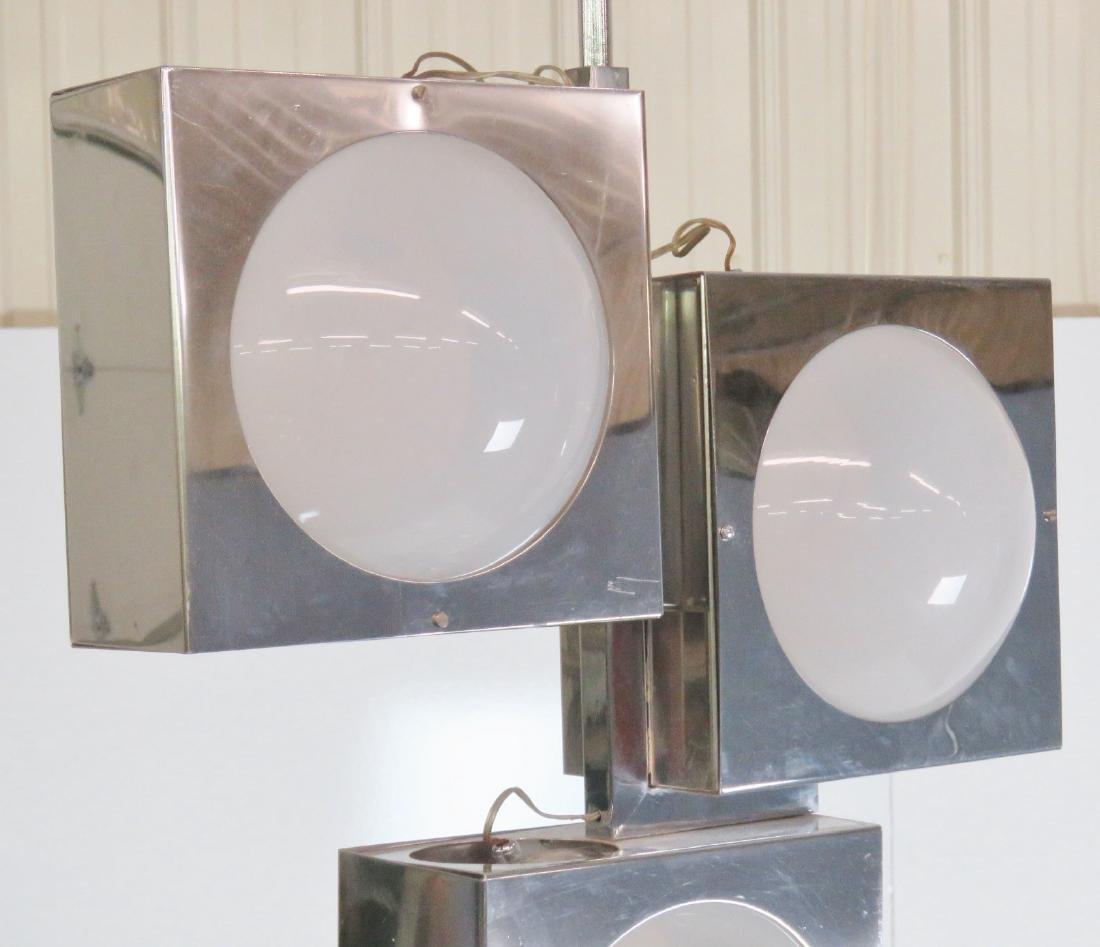 SCIOLARI CHROME & GLASS TRAFFIC LIGHT CHANDELIER - 2