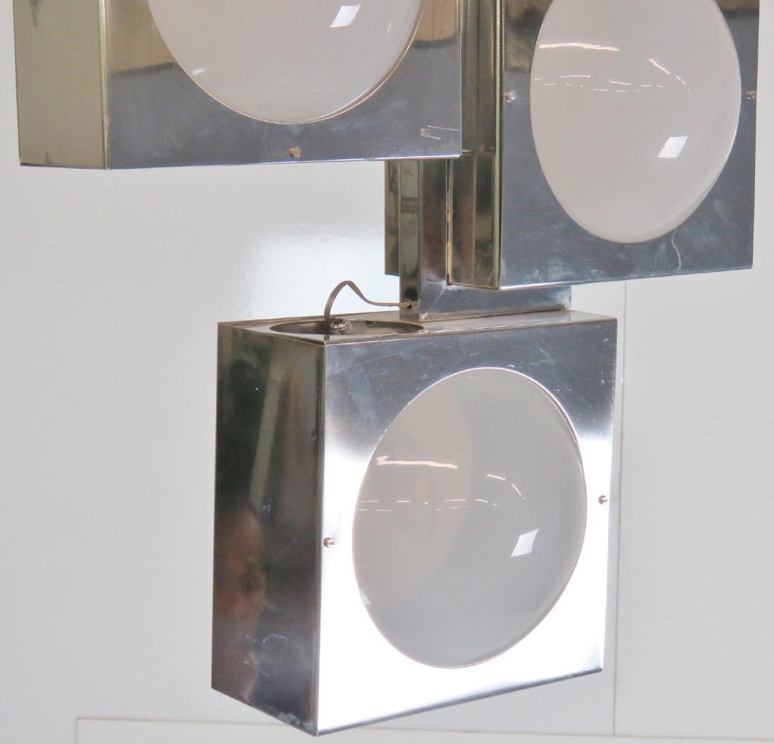 SCIOLARI CHROME & GLASS TRAFFIC LIGHT CHANDELIER - 3