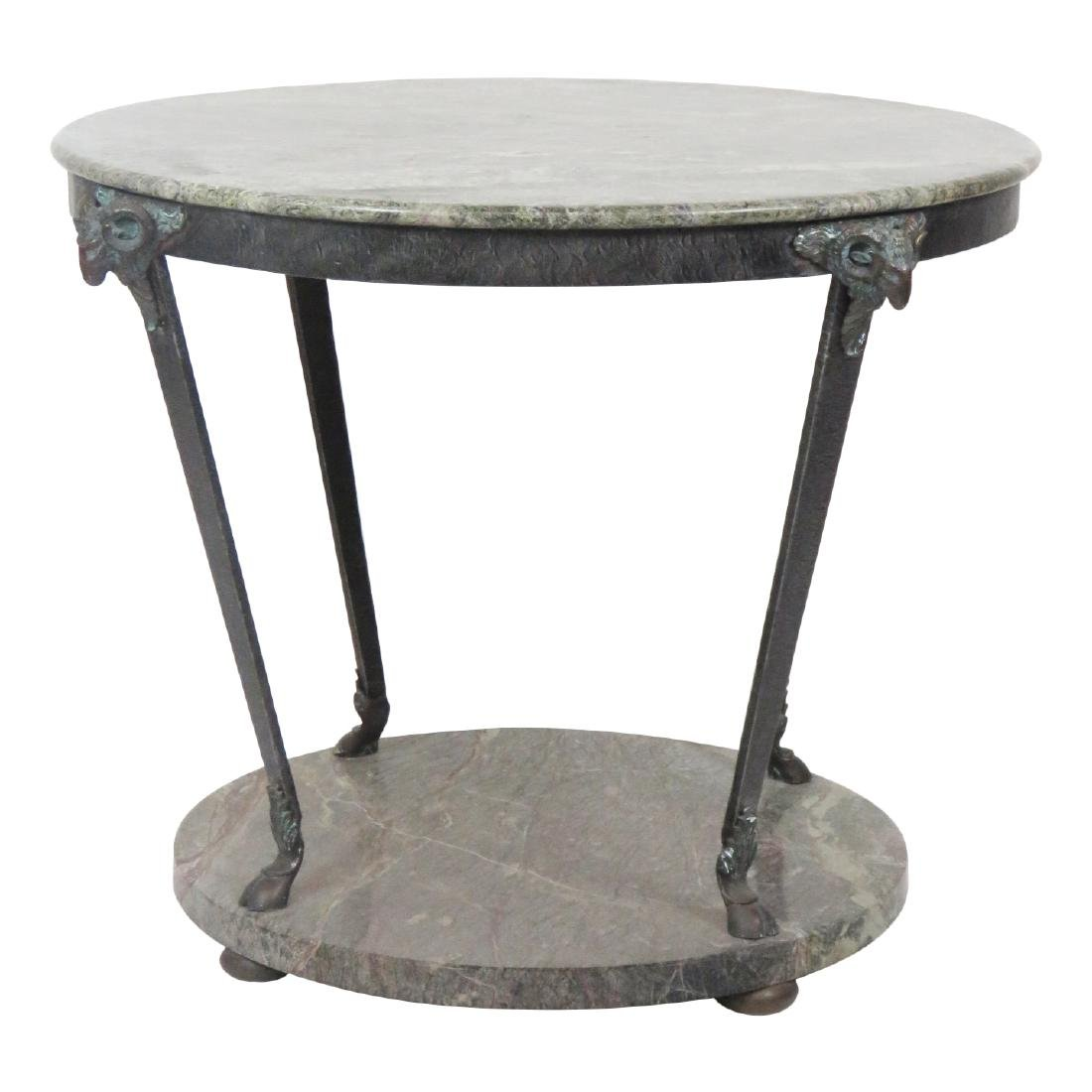 GIACOMETTI STYLE MARBLETOP CENTER TABLE
