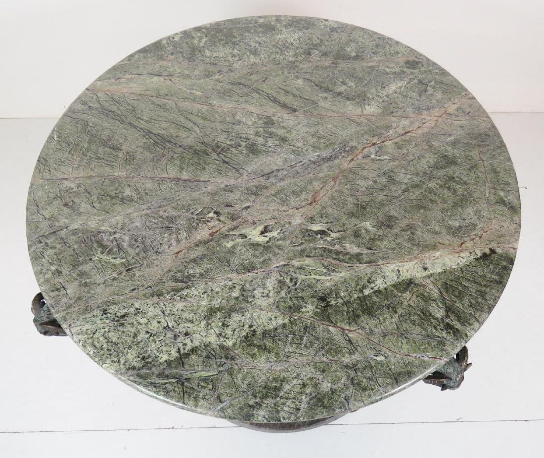 GIACOMETTI STYLE MARBLETOP CENTER TABLE - 3