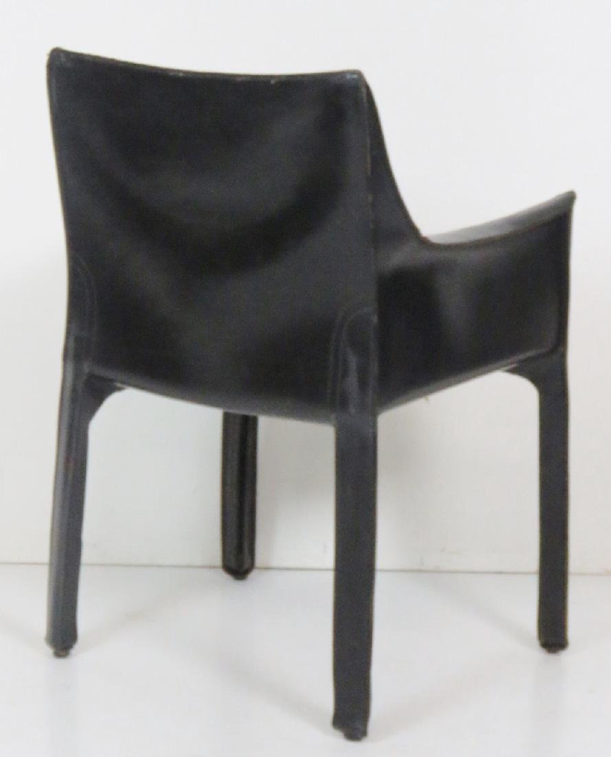 6 CASILLAS BLACK LEATHER DINING CHAIRS - 5