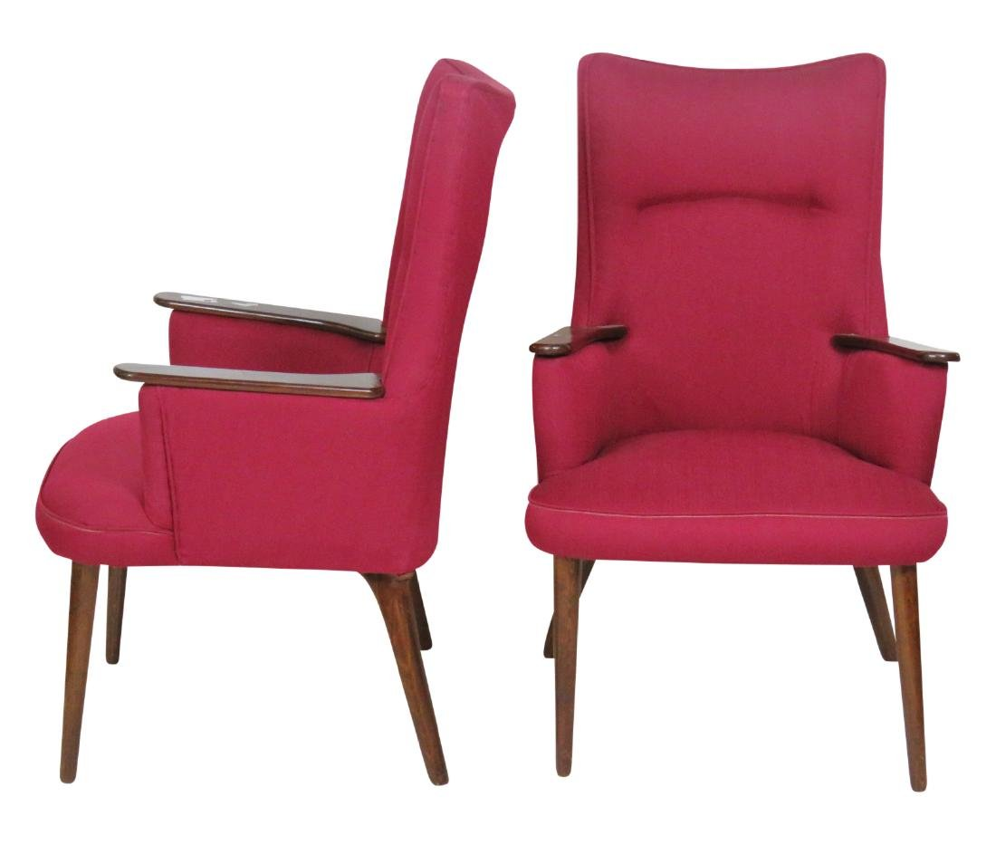 Pair MODERN DESIGN UPHOLSTERED LOUNGE CHAIRS
