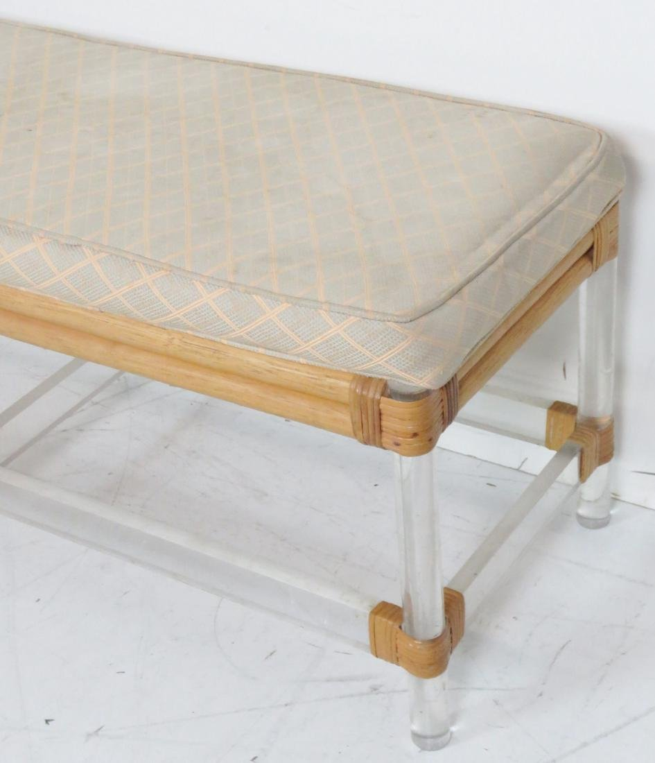 LUCITE UPHOLSTERED BENCH - 2