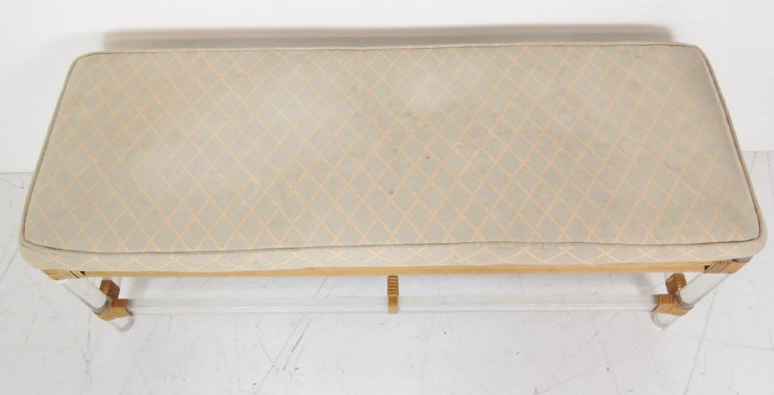 LUCITE UPHOLSTERED BENCH - 3