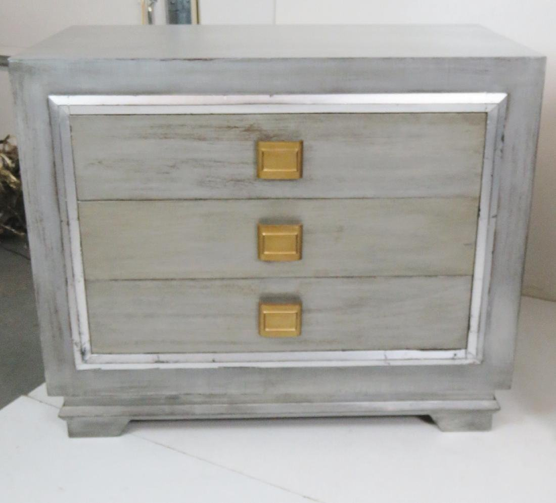 Pair JAMES MONT STYLE SILVER GILT CHESTS - 2