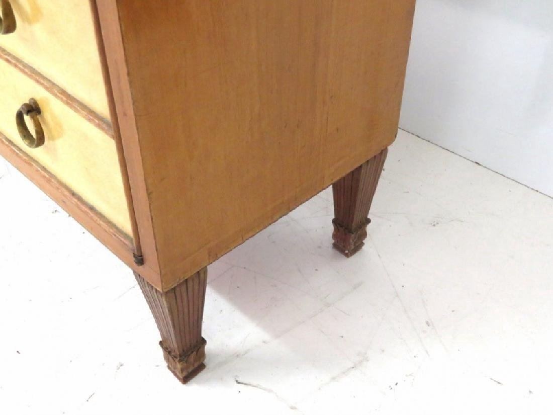Pair MID CENTURY REGENCY STYLE PARCHMENT STANDS - 4