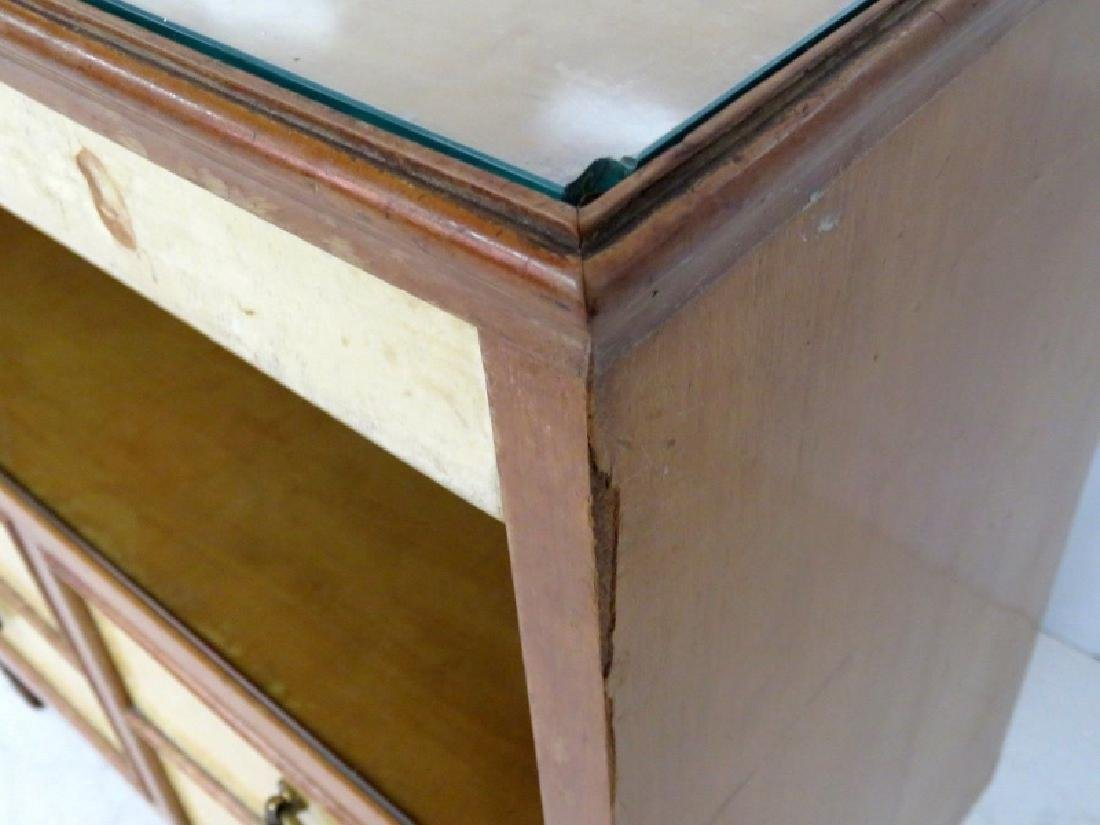 Pair MID CENTURY REGENCY STYLE PARCHMENT STANDS - 5