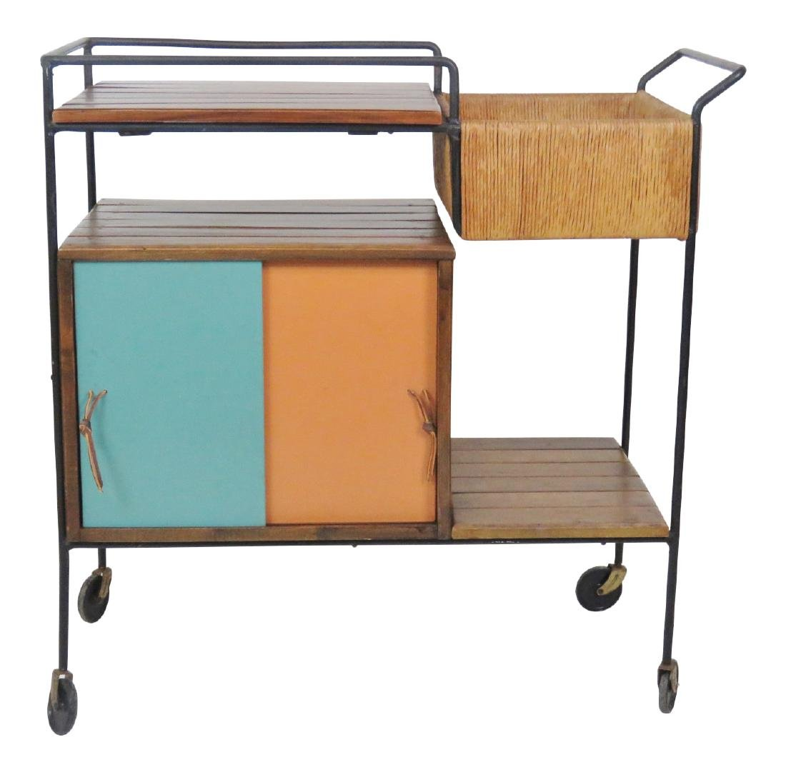 ARTHUR UMANOFF for RAYMOR SLATTED BAR CART