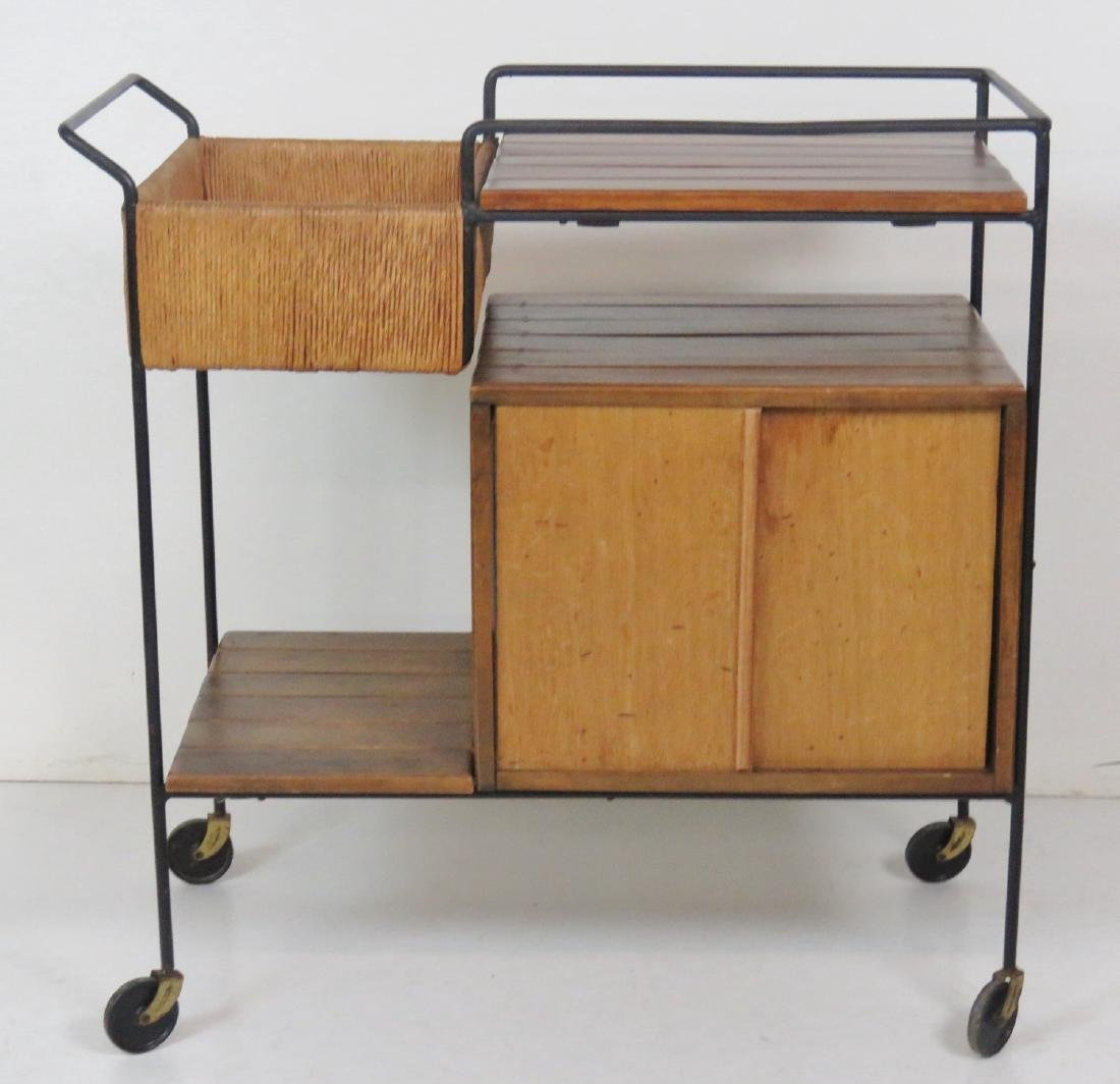 ARTHUR UMANOFF for RAYMOR SLATTED BAR CART - 2