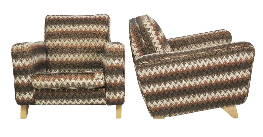 Pair MODERN UPHOLSTERED LOUNGE CHAIRS