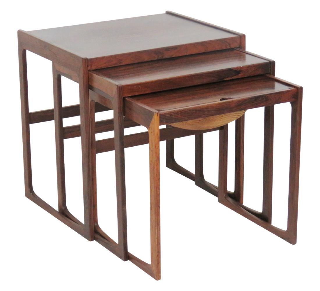 DANISH MODERN ROSEWOOD NESTING TABLES