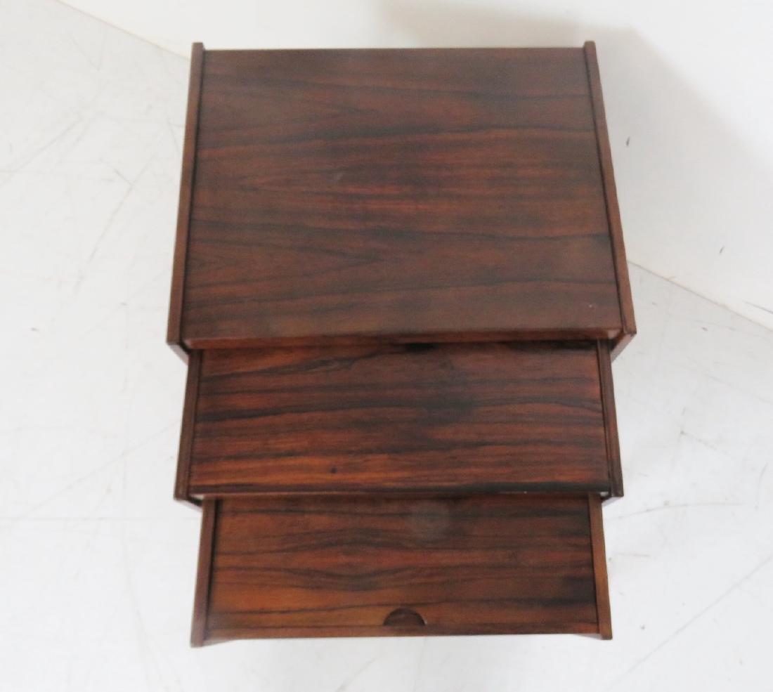 DANISH MODERN ROSEWOOD NESTING TABLES - 3